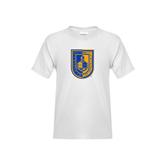 Youth White T Shirt-CUNY Shield