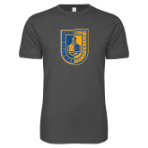 Next Level SoftStyle Charcoal T Shirt-CUNY Shield