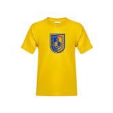 Youth Gold T Shirt-CUNY Shield