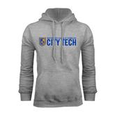 City College of Technology  Grey Fleece Hoodie-City Tech w/Shield