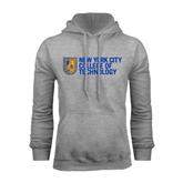 City College of Technology  Grey Fleece Hoodie-New York City College Of Technology w/ Shield