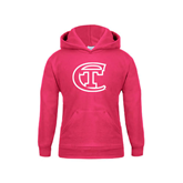 City College of Technology  Youth Raspberry Fleece Hoodie-Official Logo