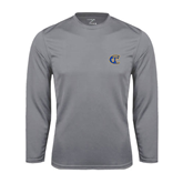 City College of Technology  Performance Steel Longsleeve Shirt-Official Logo