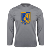 City College of Technology  Performance Steel Longsleeve Shirt-CUNY Shield
