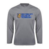 City College of Technology  Performance Steel Longsleeve Shirt-New York City College Of Technology w/ Shield