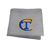 City College of Technology  Grey Sweatshirt Blanket-Official Logo