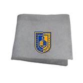 City College of Technology  Grey Sweatshirt Blanket-CUNY Shield