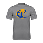City College of Technology  Performance Grey Concrete Tee-Official Logo