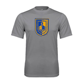 City College of Technology  Performance Grey Concrete Tee-CUNY Shield