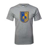 Grey T Shirt-CUNY Shield