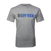 Grey T Shirt-City Tech w/Shield