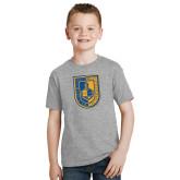 Youth Grey T-Shirt-CUNY Shield