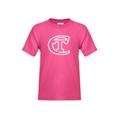 City College of Technology  Youth Cyber Pink T Shirt-Official Logo