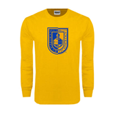 Gold Long Sleeve T Shirt-CUNY Shield