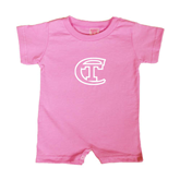 City College of Technology  Bubble Gum Pink Infant Romper-Official Logo