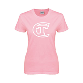 City College of Technology  Ladies Pink T Shirt-Official Logo