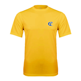 City College of Technology  Performance Gold Tee-Official Logo