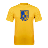 City College of Technology  Performance Gold Tee-CUNY Shield