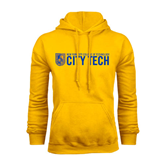 City College of Technology  Gold Fleece Hoodie-City Tech w/Shield