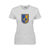 City College of Technology  Ladies White T Shirt-CUNY Shield