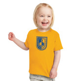Toddler Gold T Shirt-CUNY Shield