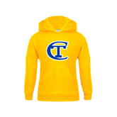 City College of Technology  Youth Gold Fleece Hoodie-Official Logo