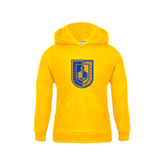 City College of Technology  Youth Gold Fleece Hoodie-CUNY Shield