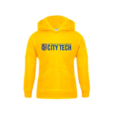 City College of Technology  Youth Gold Fleece Hoodie-City Tech w/Shield