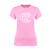 Ladies Performance Light Pink Tee-Official Logo