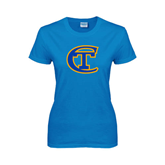 Ladies Sapphire T Shirt-Official Logo