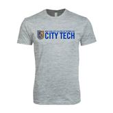 Next Level SoftStyle Heather Grey T Shirt-City Tech w/Shield
