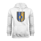 City College of Technology  White Fleece Hoodie-CUNY Shield