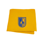 Gold Sweatshirt Blanket-CUNY Shield