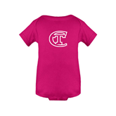 City College of Technology  Fuchsia Infant Onesie-Official Logo