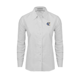 City College of Technology  Ladies White Oxford Shirt-Official Logo