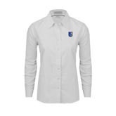City College of Technology  Ladies White Oxford Shirt-CUNY Shield