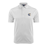 City College of Technology  White Dry Mesh Polo-Official Logo