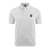 City College of Technology  White Dry Mesh Polo-CUNY Shield
