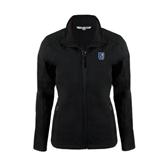 Ladies Black Softshell Jacket-CUNY Shield