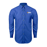 City College of Technology  Mens Royal Oxford Long Sleeve Shirt-New York City College Of Technology w/ Shield