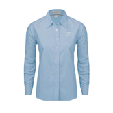City College of Technology  Ladies Light Blue Oxford Shirt-Official Logo