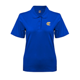City College of Technology  Ladies Easycare Royal Pique Polo-Official Logo