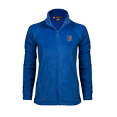 Ladies Fleece Full Zip Royal Jacket-CUNY Shield