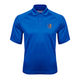 City College of Technology  Royal Textured Saddle Shoulder Polo-CUNY Shield