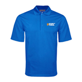 City College of Technology  Royal Mini Stripe Polo-New York City College Of Technology w/ Shield