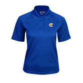 City College of Technology  Ladies Royal Textured Saddle Shoulder Polo-Official Logo