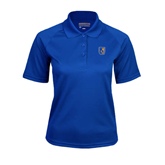 City College of Technology  Ladies Royal Textured Saddle Shoulder Polo-CUNY Shield