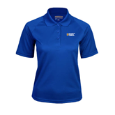 City College of Technology  Ladies Royal Textured Saddle Shoulder Polo-New York City College Of Technology w/ Shield
