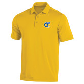 City College of Technology  Under Armour Gold Performance Polo-Official Logo