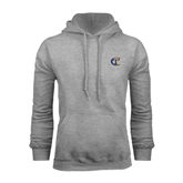 City College of Technology  Grey Fleece Hoodie-Official Logo